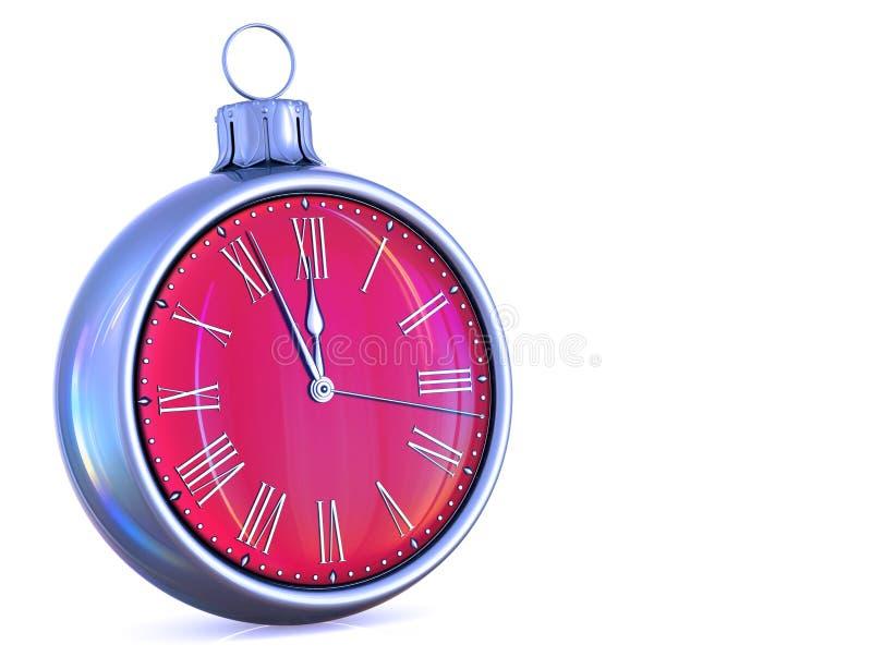 Nowego Roku dnia północy zegaru godziny czasu odliczanie ostatni nacisk ilustracji