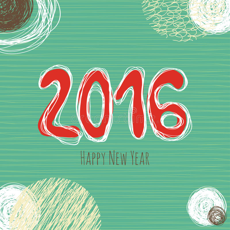 Nowego Roku doodle kolekcja, ręka rysujący nowy rok elementy ilustracji