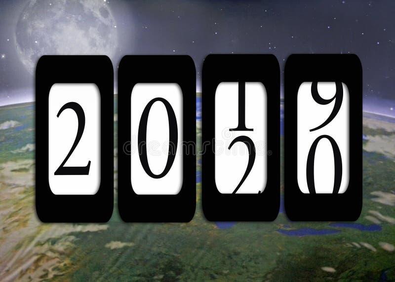 Nowego Roku 2020 drogomierz na planety ziemi fotografia stock