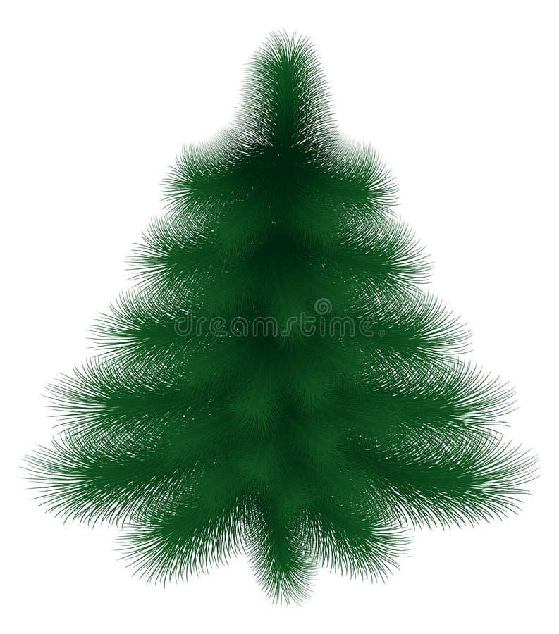 Nowego Roku drzewo z puszystymi zielonymi gałąź royalty ilustracja