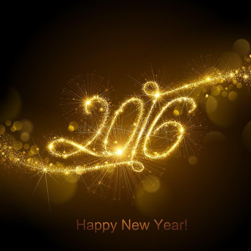 Nowego Roku 2016 fajerwerki ilustracji
