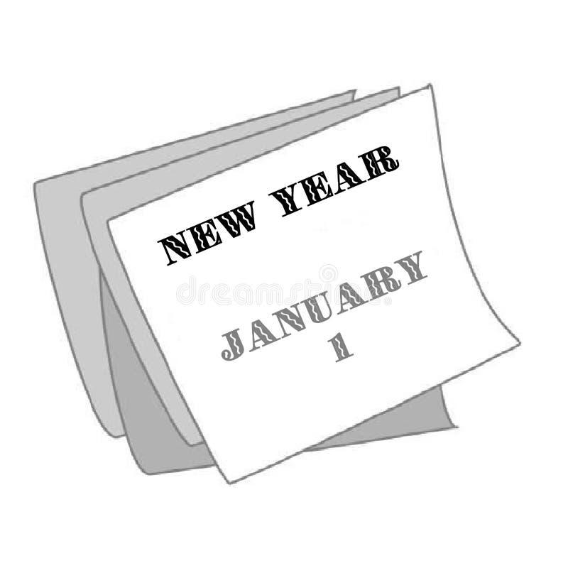 nowego roku kalendarzowego ilustracja wektor