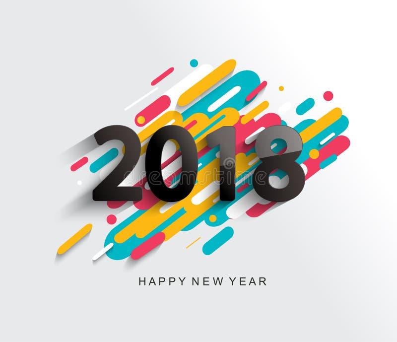 Nowego Roku 2018 karta na nowożytnym tle royalty ilustracja