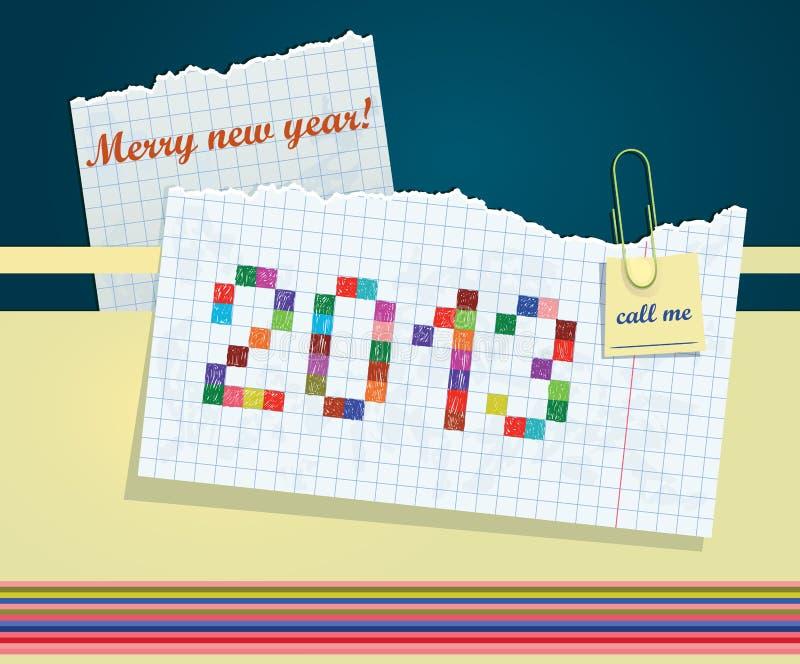 Nowego Roku kartka z pozdrowieniami ilustracji