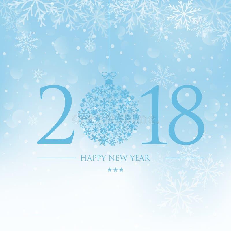 nowego roku karty royalty ilustracja