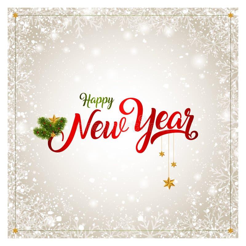 nowego roku karty ilustracji