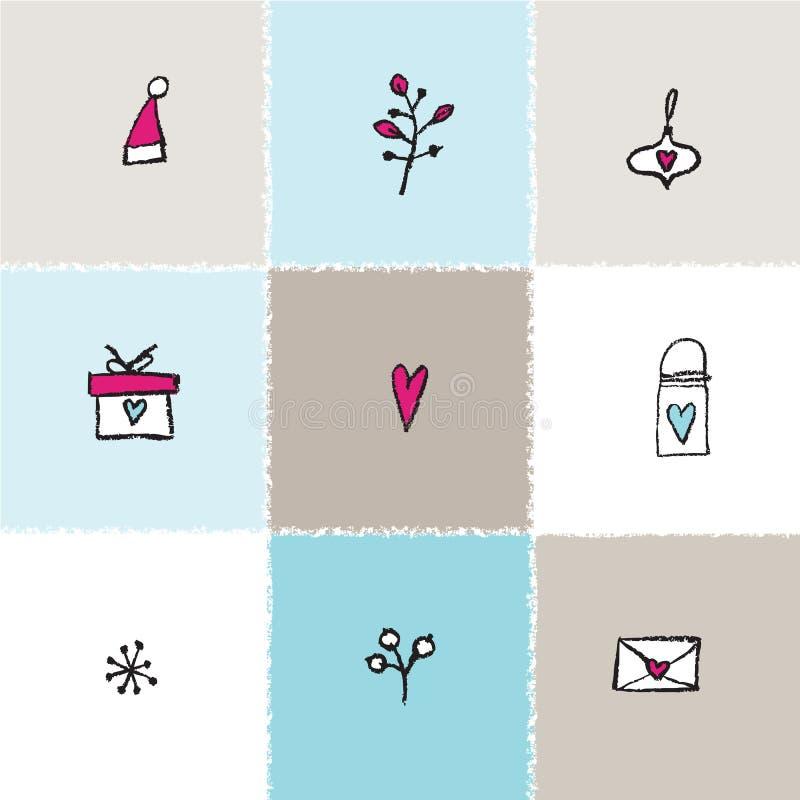 nowego roku karty ręka patroszona tło dekoracyjny ilustracja wektor