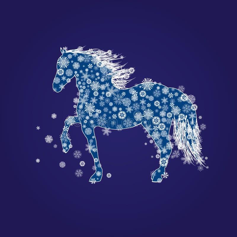 Nowego Roku koń ilustracja wektor