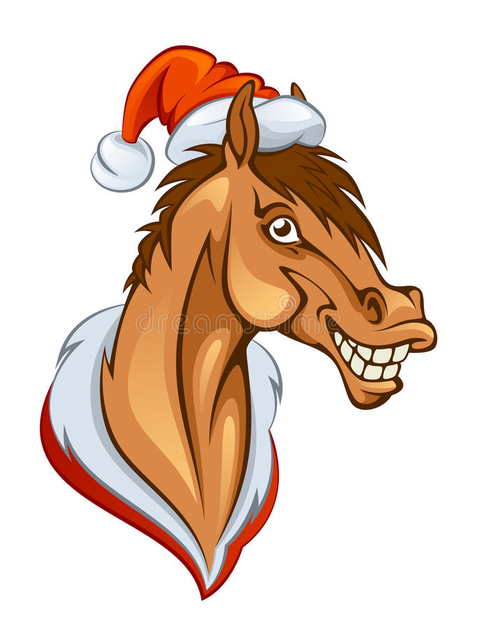Nowego roku koń royalty ilustracja