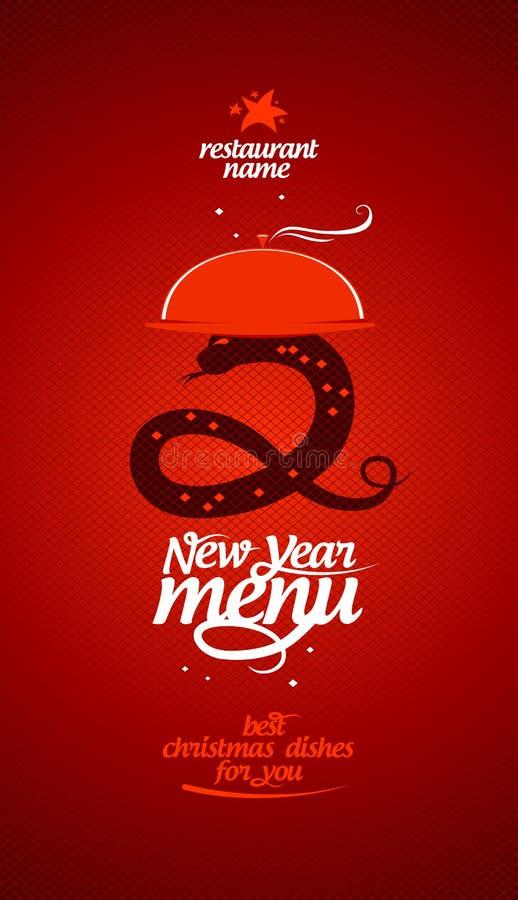 Nowego Roku menu. royalty ilustracja