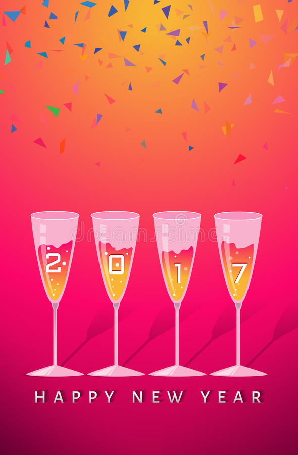 Nowego roku partyjny gratulowanie ilustracja wektor
