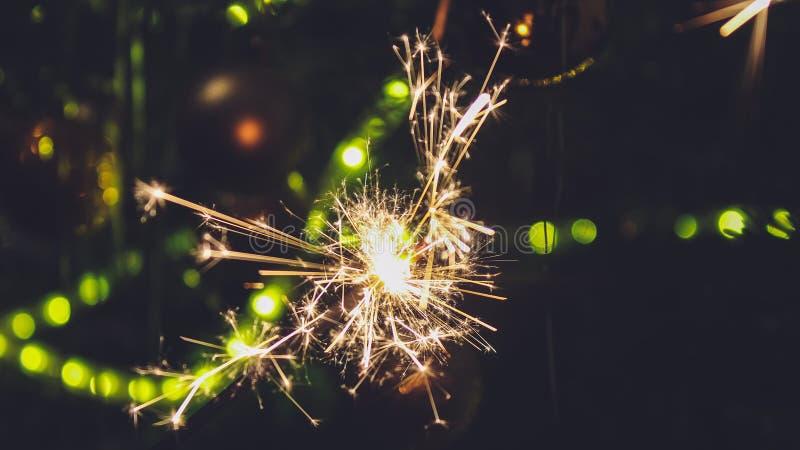 Nowego roku partyjny sparkler zdjęcie stock