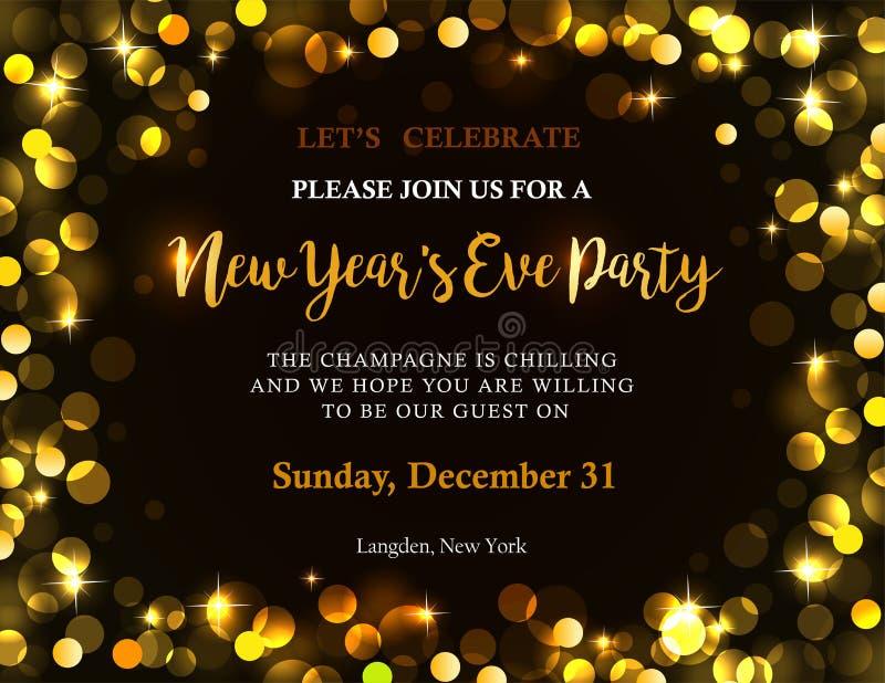 Nowego roku partyjny zaproszenie ilustracji
