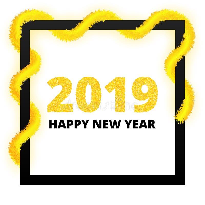 Nowego Roku 2019 plakat ilustracji
