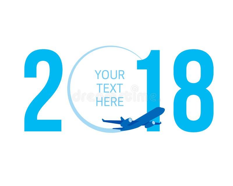 Nowego Roku pojęcie - samolot ilustracja wektor