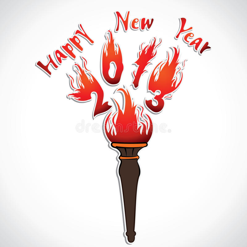 Nowego roku powitanie ilustracji