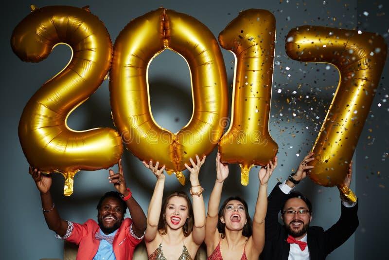 Nowego roku przyjęcie zdjęcia stock