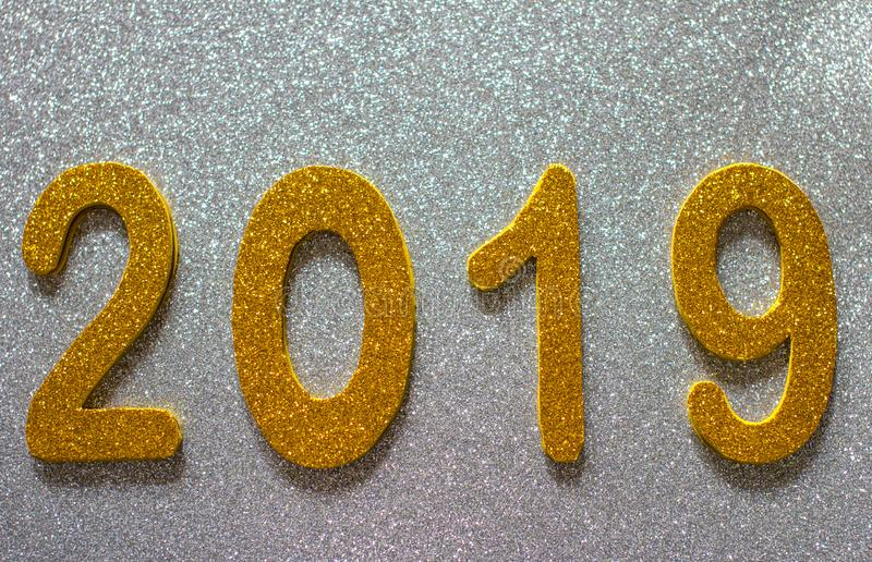 Nowego roku ` s inskrypcja z liczbami 2019 zdjęcia royalty free
