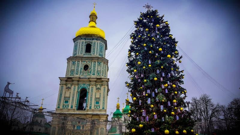 Nowego Roku ` s Kyiv zdjęcie stock