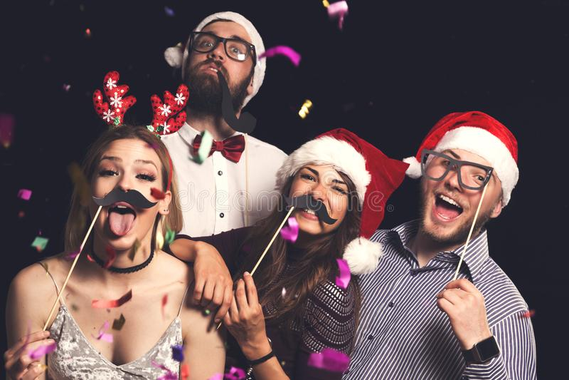 Nowego Roku ` s wigilii kostiumu przyjęcie obraz stock