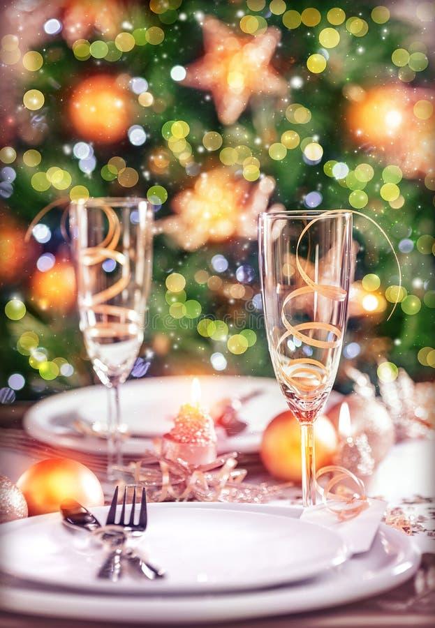 Nowego Roku stołowy położenie obraz royalty free