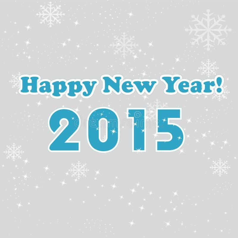 Nowego roku 2015 szarość tło ilustracja wektor