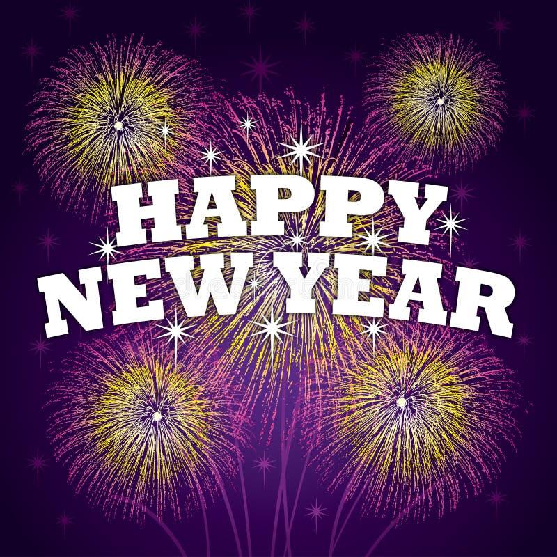 Nowego roku szczęśliwy Tło royalty ilustracja