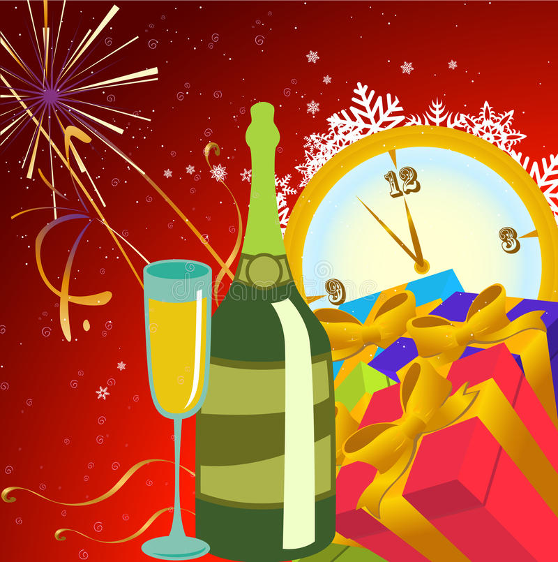 Nowego roku tło ilustracji