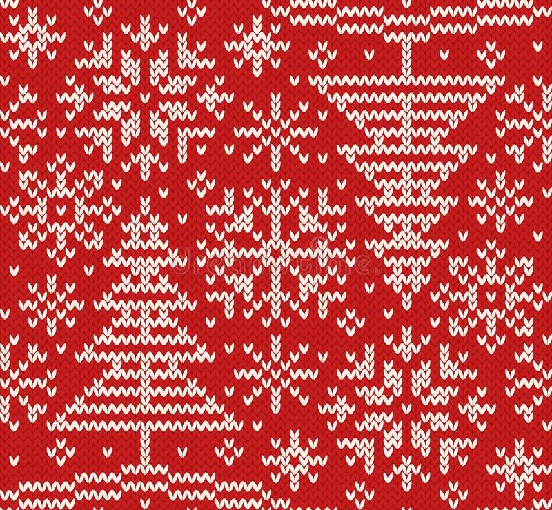 Nowego roku trykotowy północny bezszwowy wzór royalty ilustracja