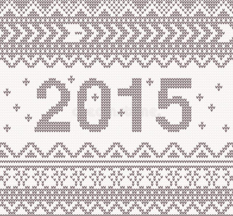 Nowego roku trykotowy tło z ornamentem ilustracji