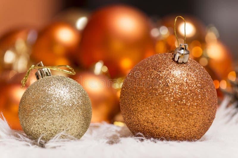 Nowego roku xmas bożych narodzeń ornamentów dekoracja fotografia royalty free