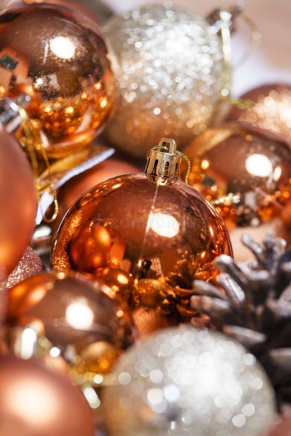Nowego roku xmas bożych narodzeń ornamentów dekoracja zdjęcia royalty free