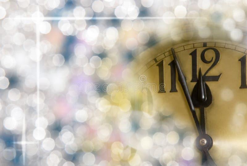 Nowego roku zegar obraz stock