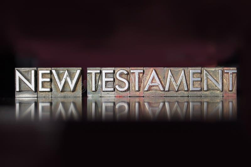 Nowego Testamentu Letterpress obrazy royalty free
