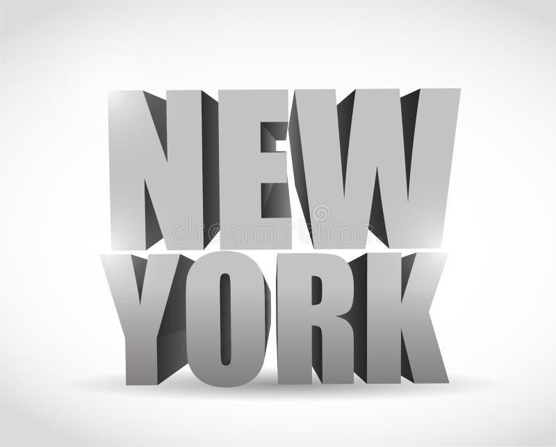 Nowego York 3d teksta ilustracyjny projekt ilustracji