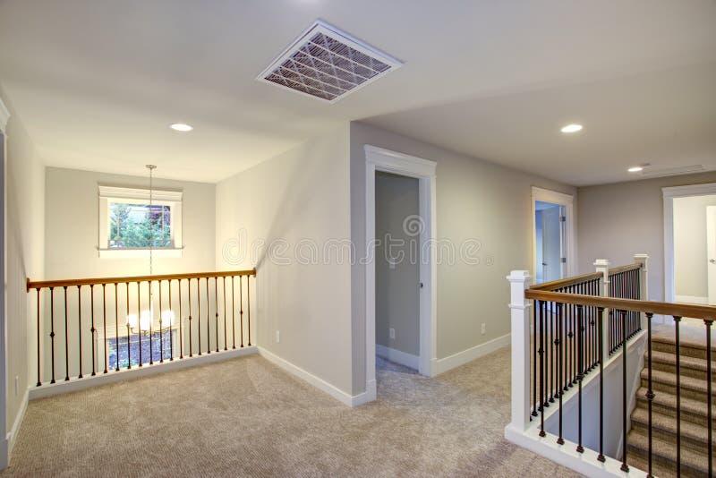 Nowej budowy domowy wnętrze Pusty lądowanie obrazy stock
