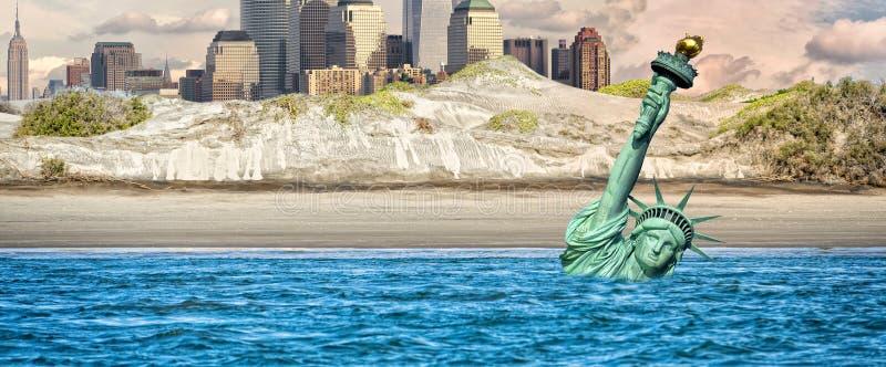 Nowej York poczta apocalypse jądrowa scena ilustracji