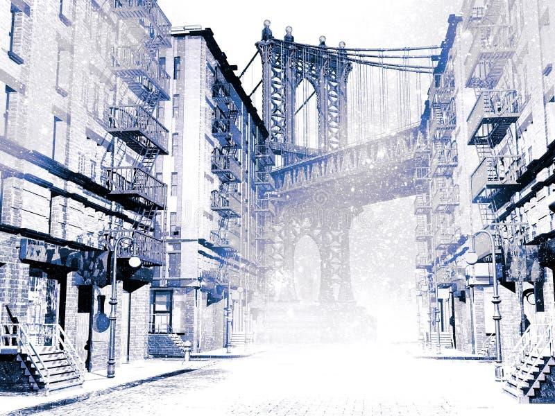nowi śniegi York ilustracja wektor
