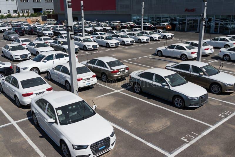 Nowi audi samochody zdjęcia royalty free