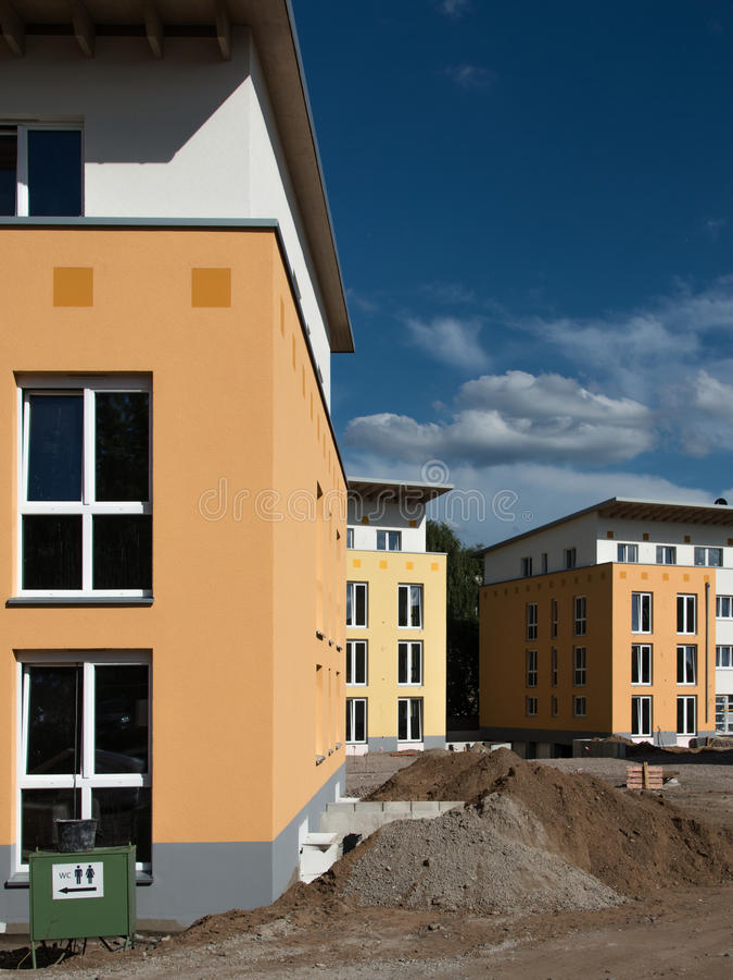 Nowi budynki mieszkaniowi obraz stock