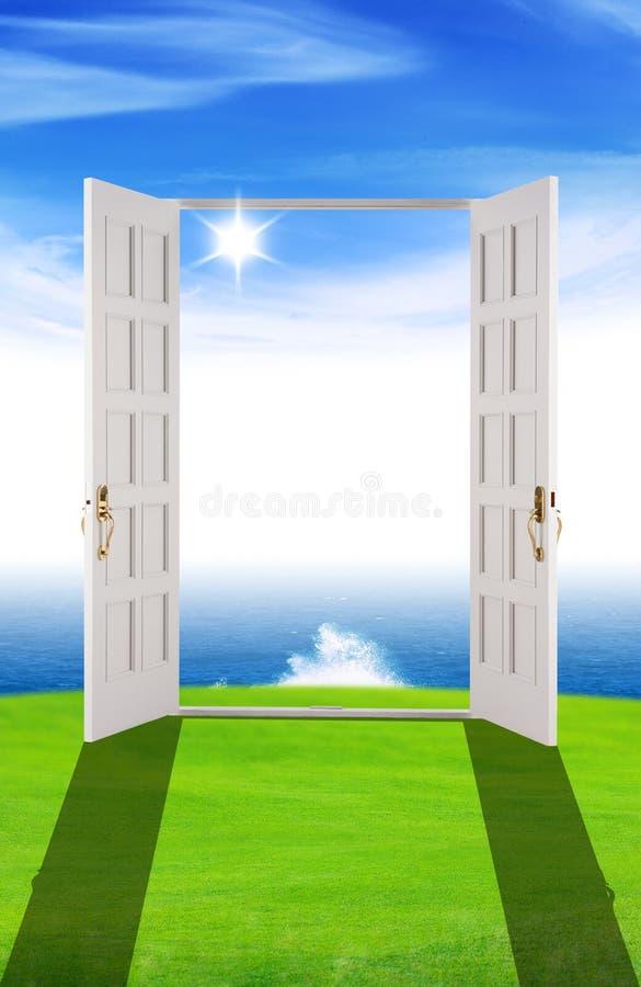 nowi drzwiowi sen ilustracja wektor