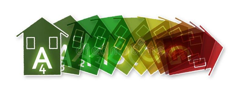 Nowi europejscy prawa w dotyczyć wydajność energii ilustracja wektor