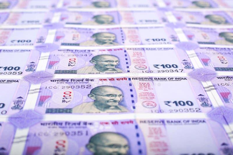 Nowi Indiańscy waluta banknoty zdjęcia royalty free