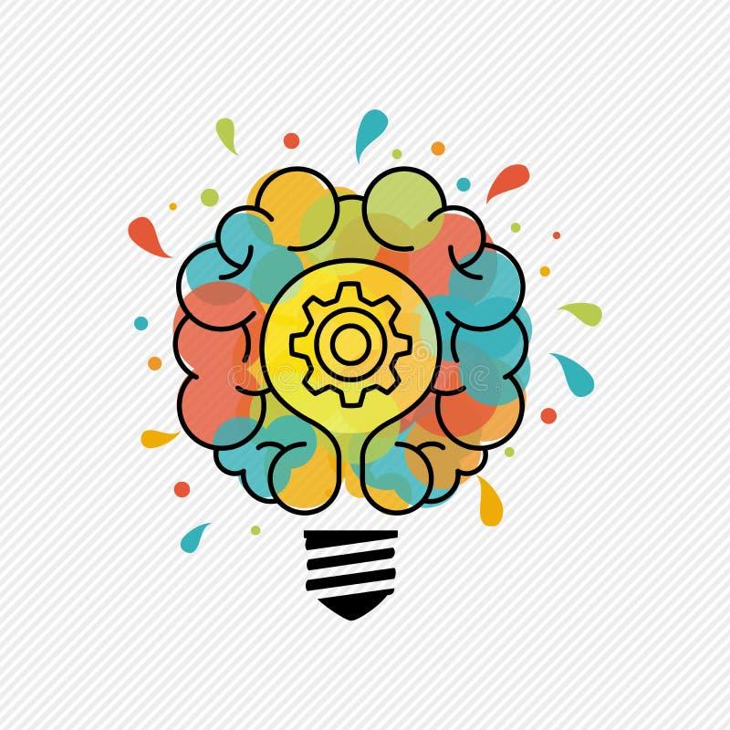 Nowi pomysły dla kreatywnie główkowania żarówki pojęcia ilustracji