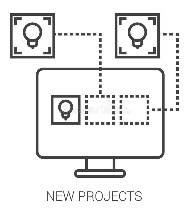 Nowi projekty wykładają infographic ilustracja wektor