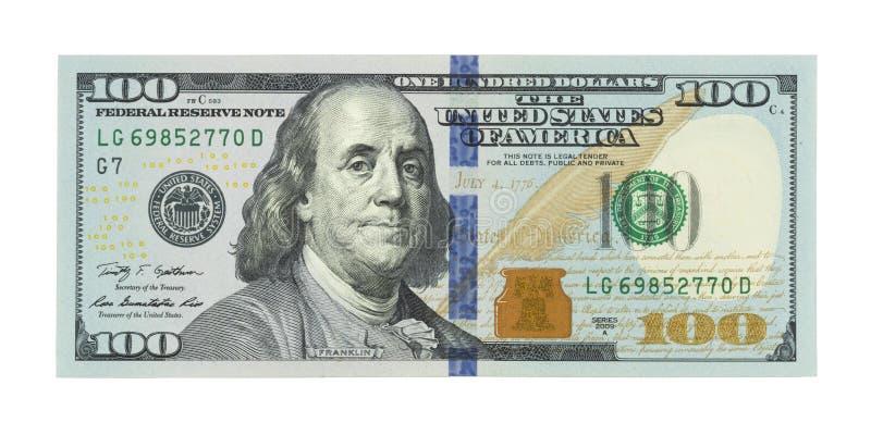 Nowi sto USA dolarów rachunków, 100 samiec, amerykanin 100 dolarów zdjęcie stock