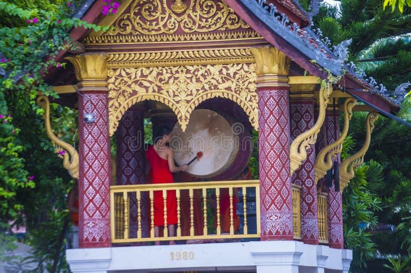Nowicjuszów michaelita w Luang Prabang Laos fotografia stock