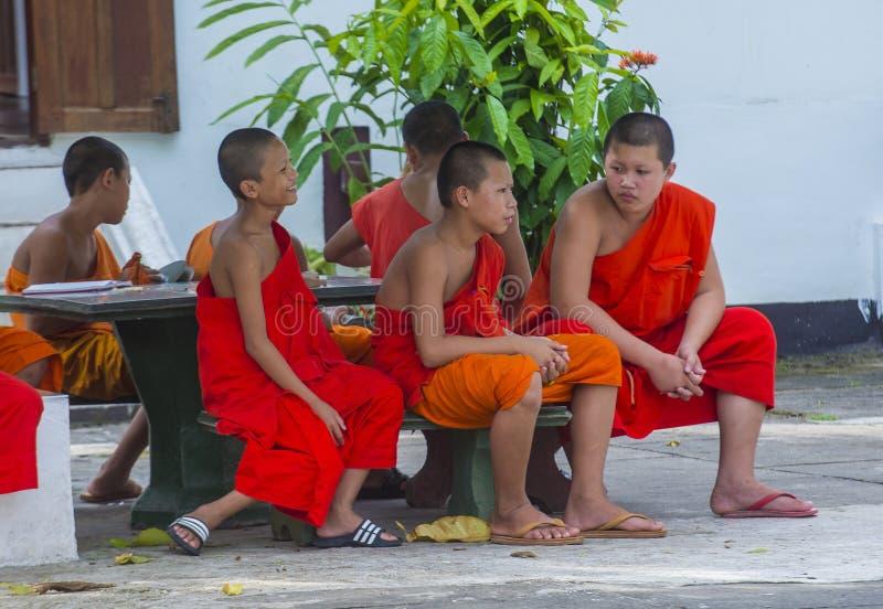 Nowicjuszów michaelita w Luang Prabang Laos zdjęcie stock