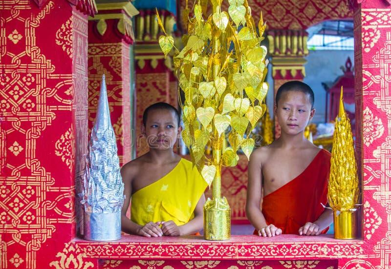Nowicjuszów michaelita w Luang Prabang Laos zdjęcia royalty free