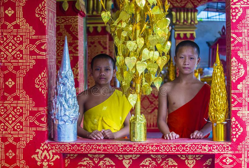 Nowicjuszów michaelita w Luang Prabang Laos zdjęcie royalty free